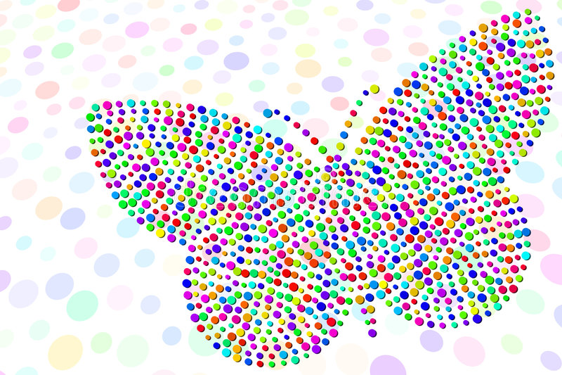 confetti бабочки иллюстрация вектора