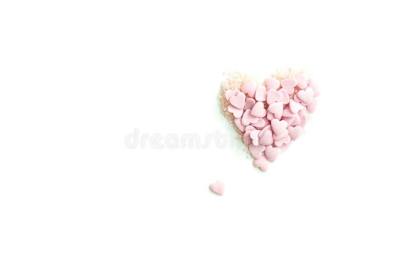 Confetti брызгает в форме сердца стоковое изображение