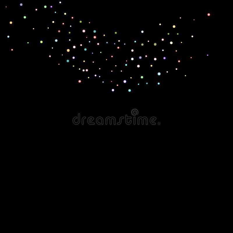 Confetti искры яркого блеска радужный голографический иллюстрация штока