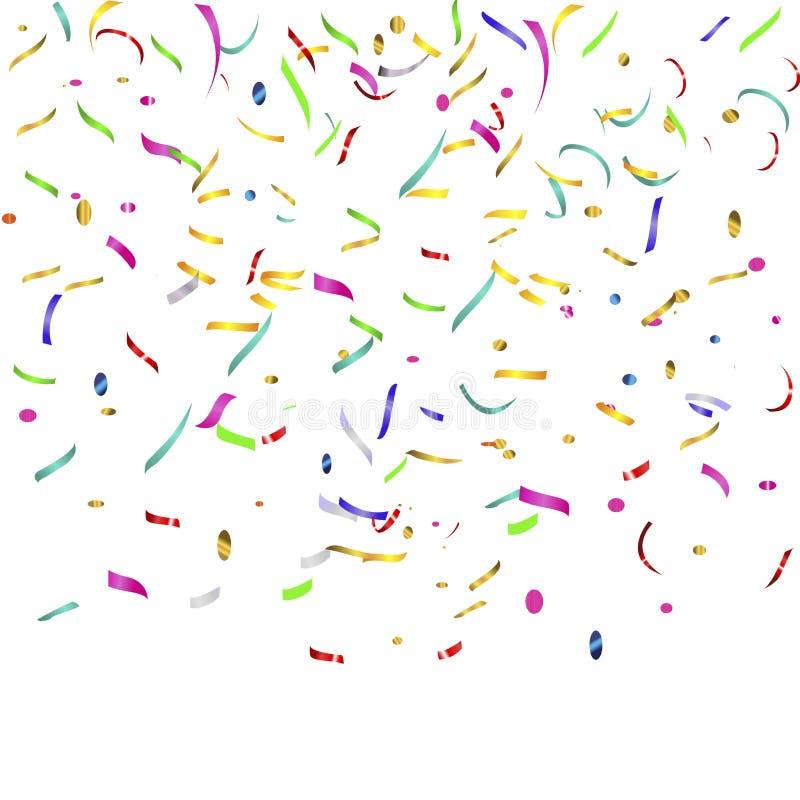 Confetti и ленты иллюстрация штока