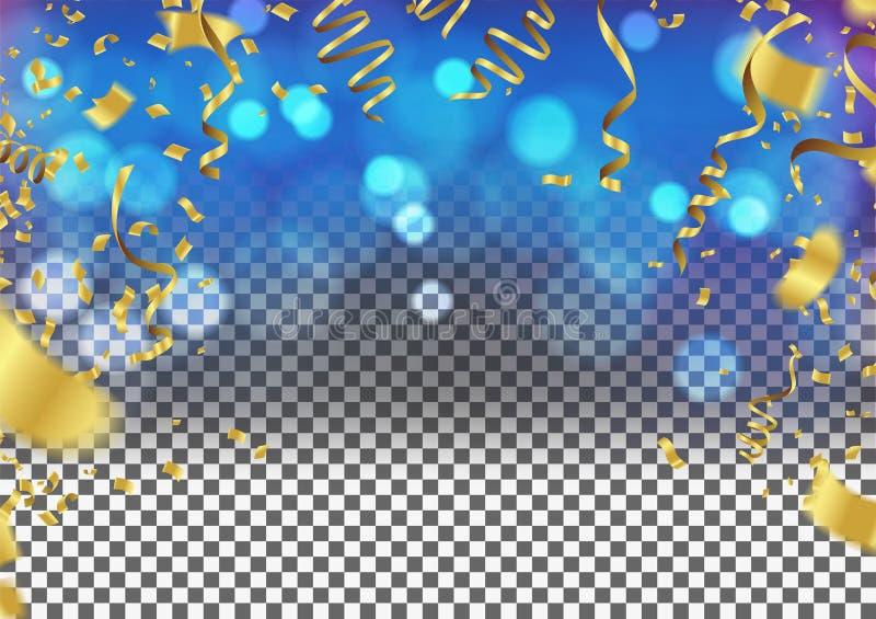 Confetti предпосылки дня рождения и партия, дизайн клуба с элементами, счастливыми бесплатная иллюстрация