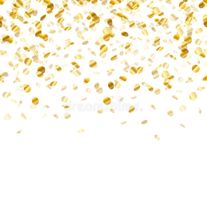 confetti предпосылки золотистый безшовная горизонтальная стоковые изображения rf