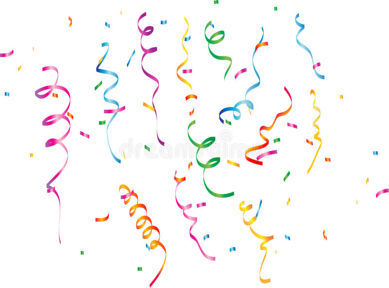 Confetti. Vector illustration of multicolored confetti on white background