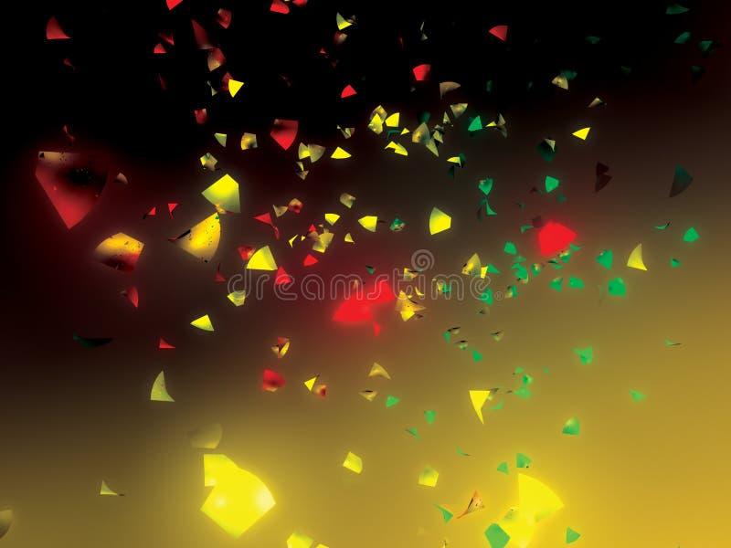 Confetti ilustração stock