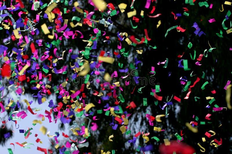 Confetti & flâmulas imagens de stock royalty free