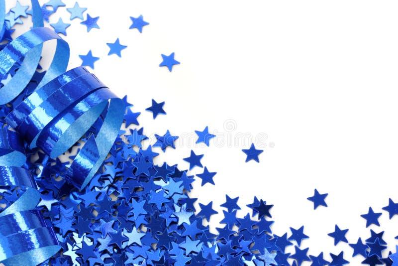 confetti błękitny gwiazdy fotografia stock
