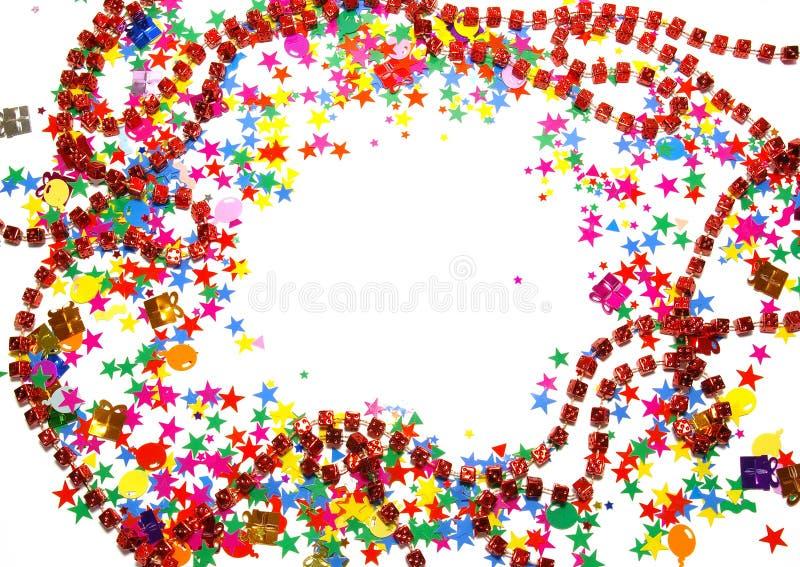 confetti barwiony biel obraz stock