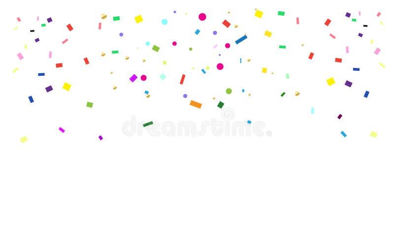 Confetti. Bright confetti Pattern for Carnival, Festival, Masquerade Mardi Gras invitation background design. Vector