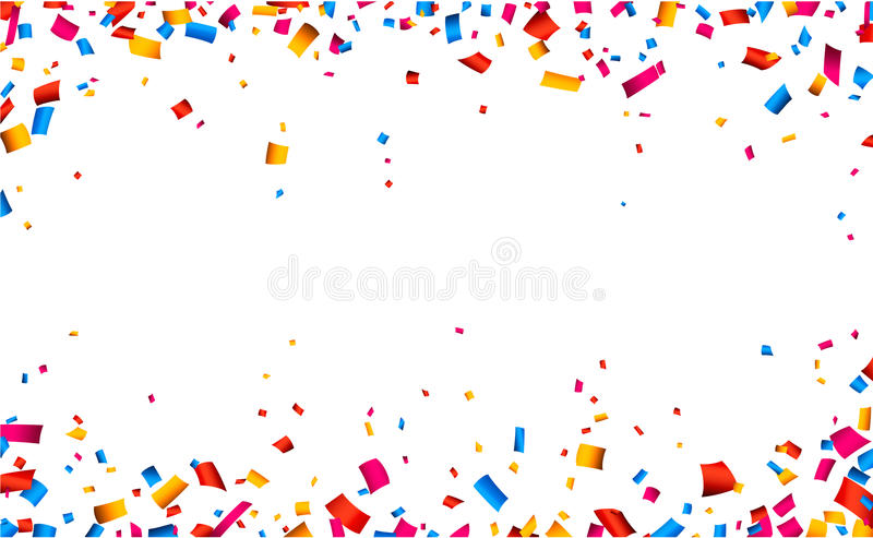 Confetti celebration frame background royalty free illustration