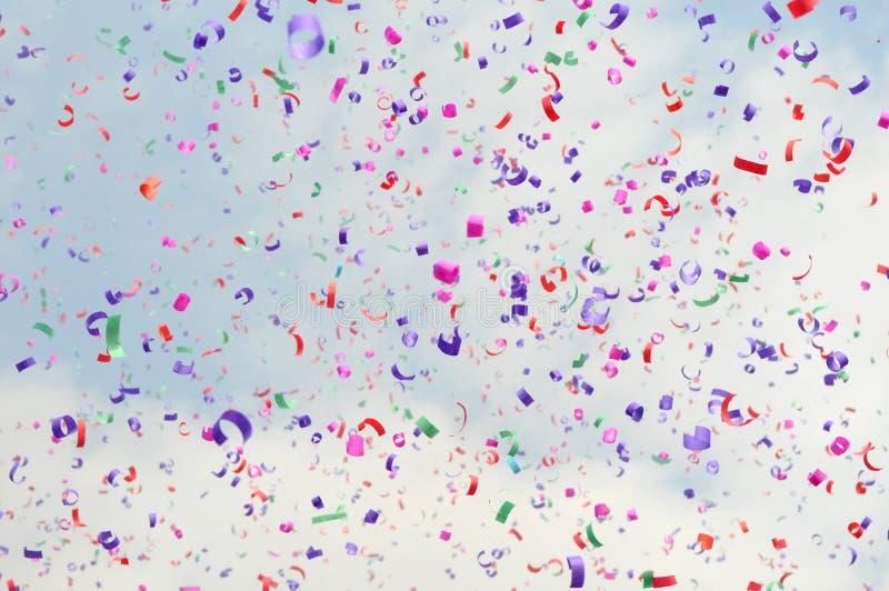 Confetti colorido festivo fotografia de stock