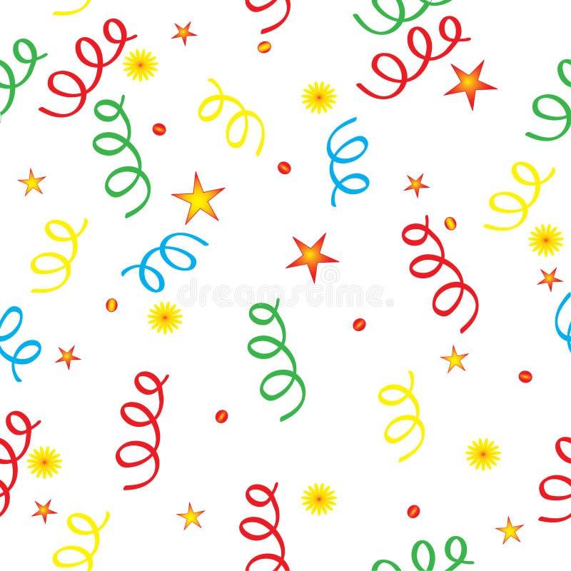 Confetti e as estrelas ilustração royalty free