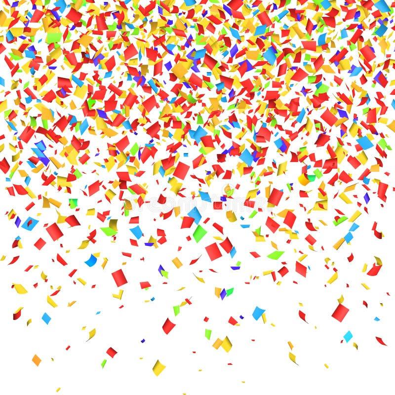 Confetti falling. vector illustration