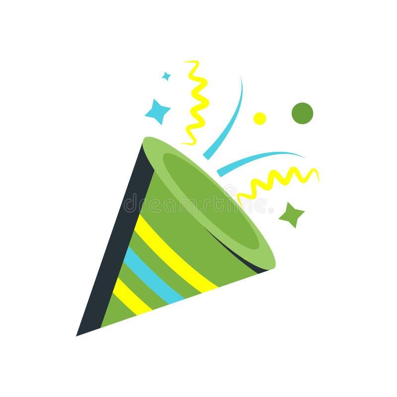 Confetti ikony wektoru znak i symbol odizolowywający na białym backgroun ilustracja wektor