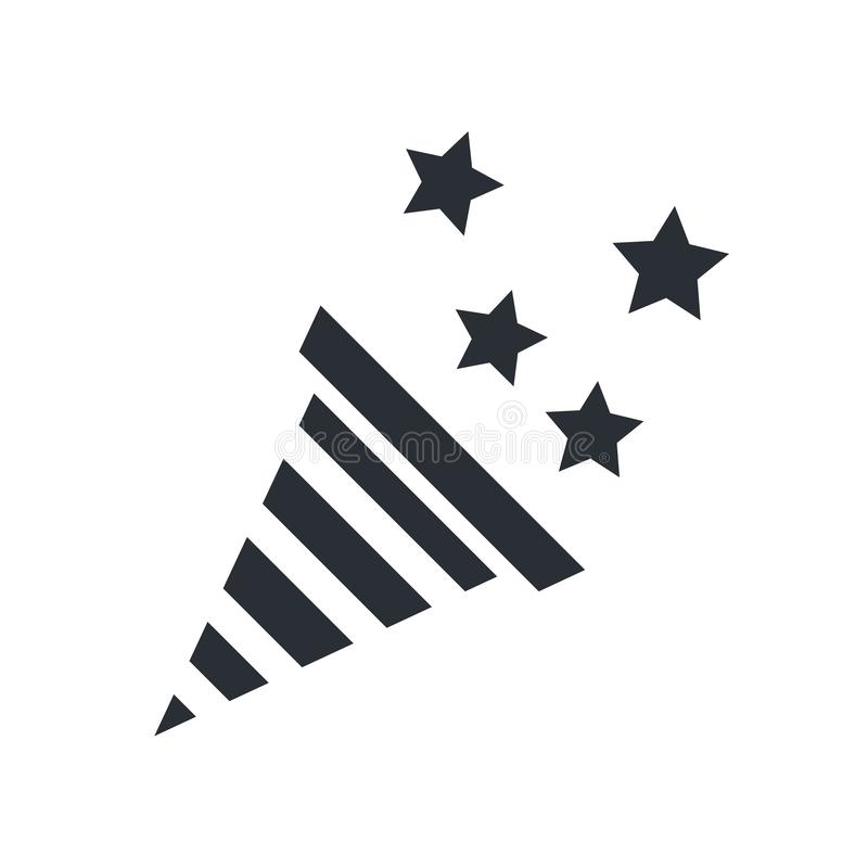Confetti ikony wektoru znak i symbol odizolowywający na białym backgroun ilustracji