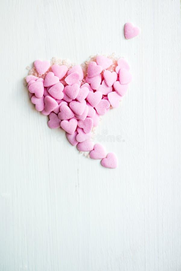 Confetti Kropi w postaci serca obrazy royalty free