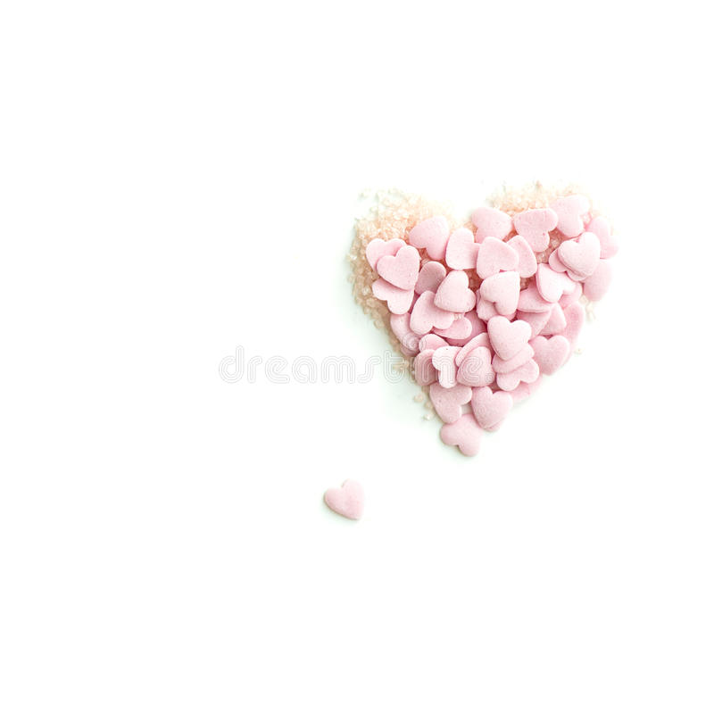 Confetti Kropi w postaci serca obrazy stock