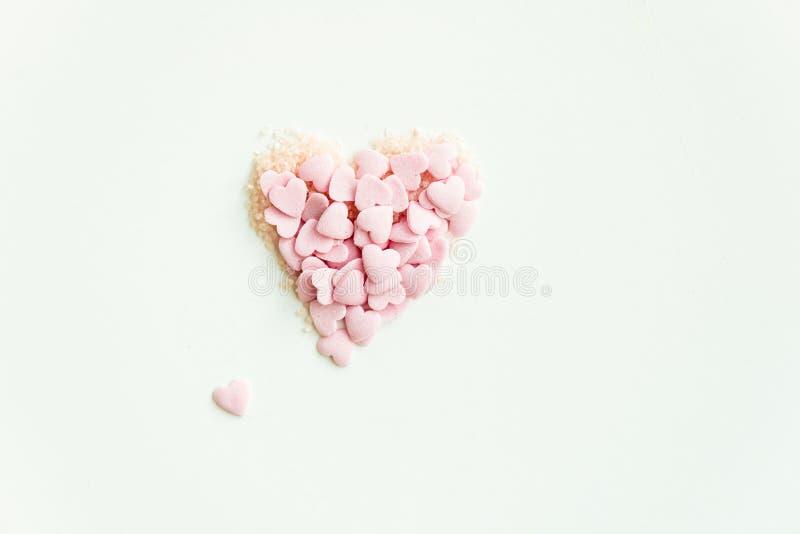 Confetti Kropi w postaci serca zdjęcia stock