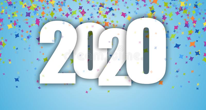confetti New Year party 2020 background royalty free illustration