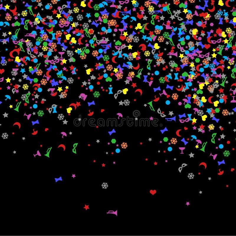 Confetti, Nowy Rok świętowanie - tło ilustracji