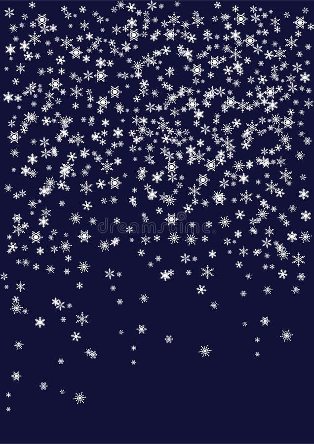 confetti płatek śniegu ilustracja wektor