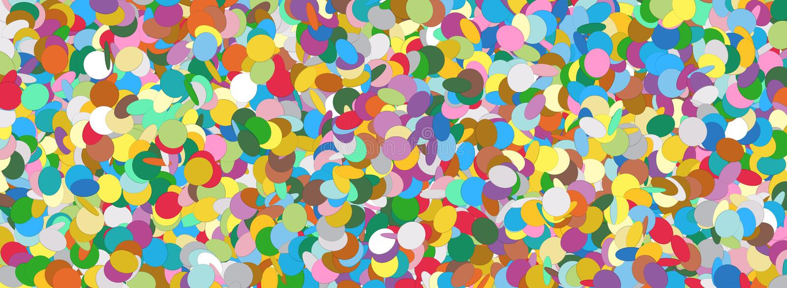 Confetti Panorama Background Template Texture vector illustration