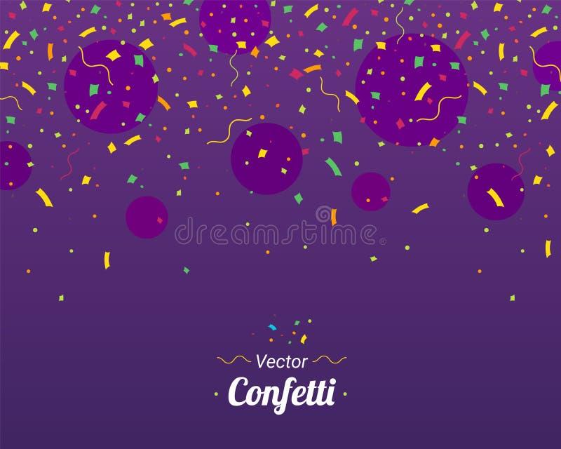 confetti Partes coloridas dos confetes ilustração royalty free