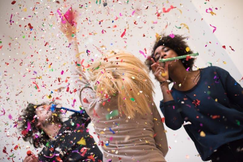 Confetti party stock photo