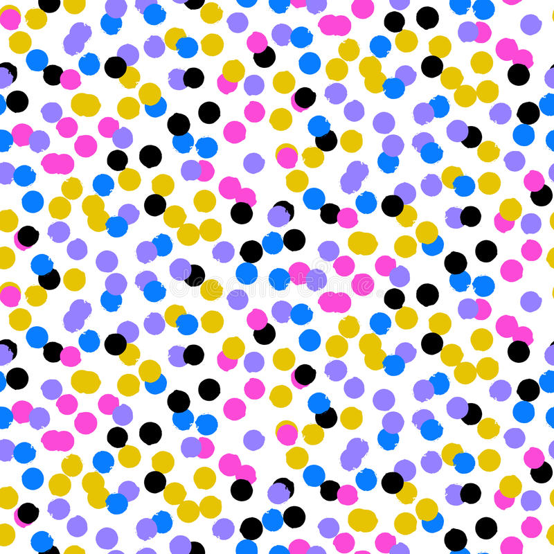 Confetti pattern royalty free illustration
