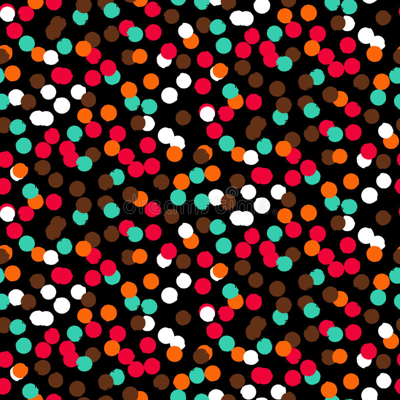 Confetti pattern stock illustration