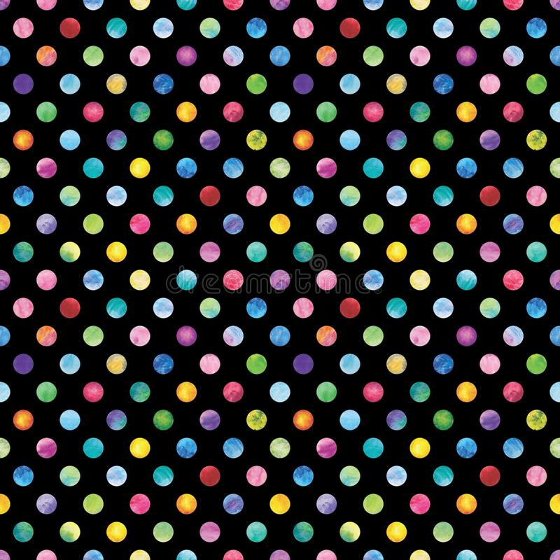 Confetti Polka Dot Pattern stock illustration