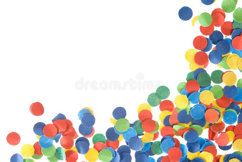 confetti rama obraz royalty free