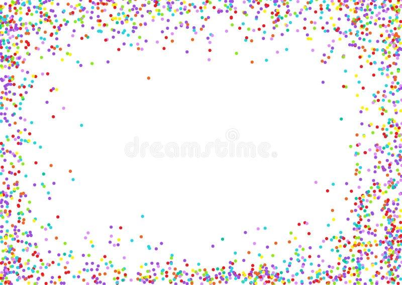 Confetti rama royalty ilustracja