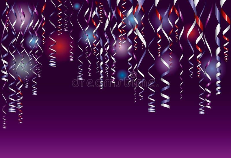 Confetti roxo ilustração do vetor