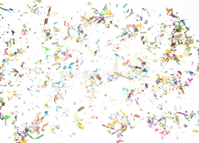 Confetti scattered royalty free stock photography