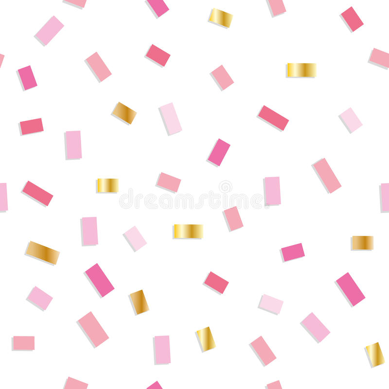 download confetti seamless pattern festive background with pink and gold little pieces girly