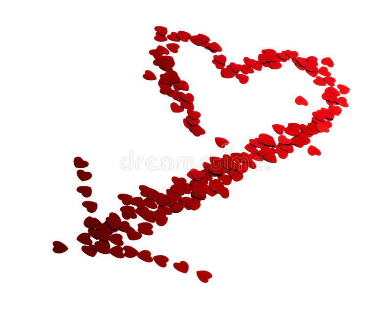 Confetti serca obrazy royalty free