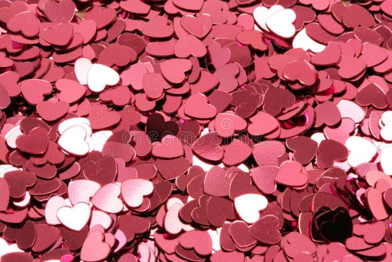 confetti serca menchie zdjęcia royalty free