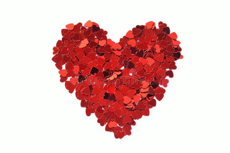 confetti serce obrazy stock