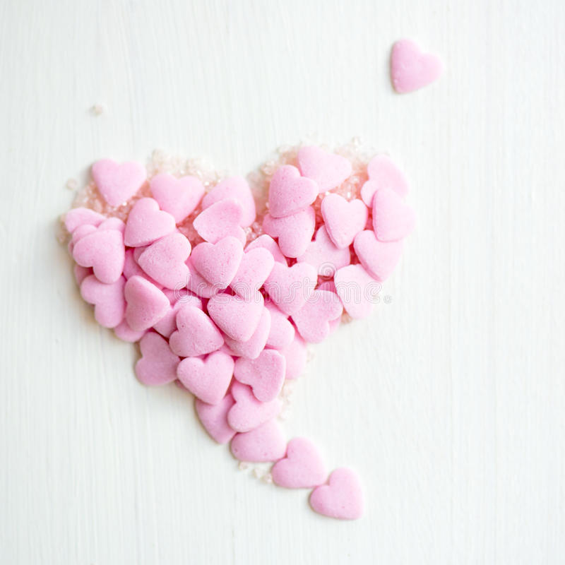 Confetti Sprinkles in the Form of the Heart stock photos