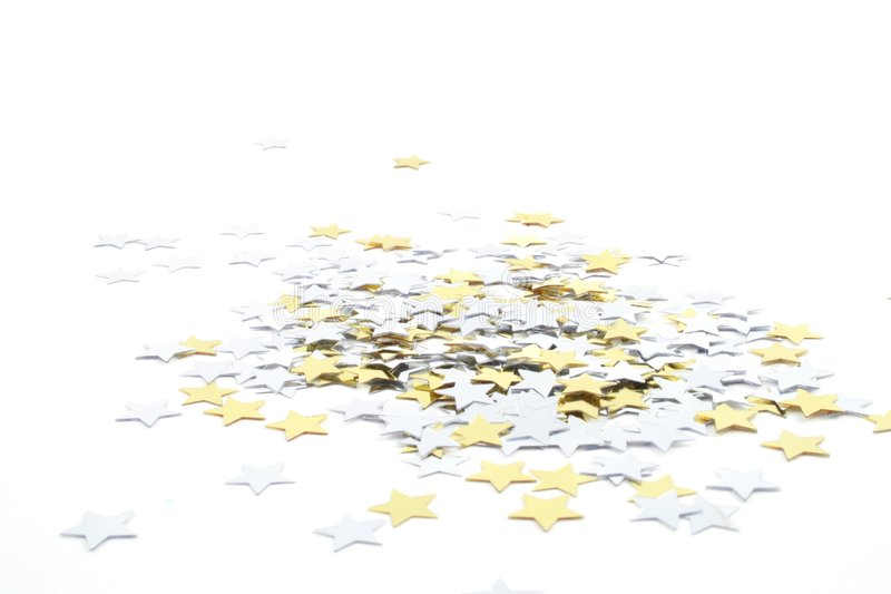 Confetti Stars Stock Photography