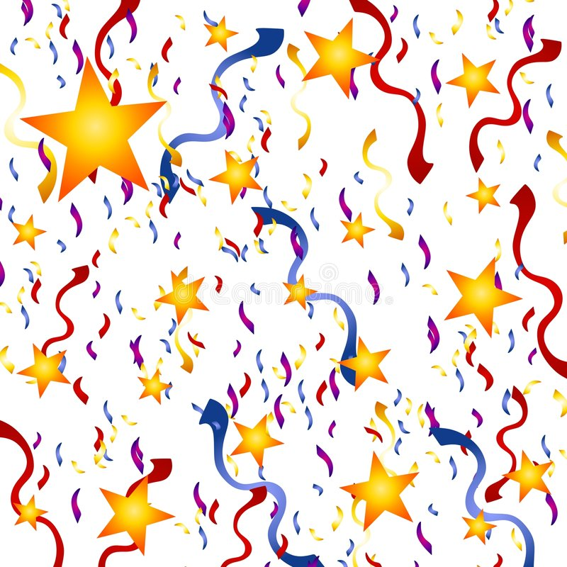 Confetti Stars New Year s Eve Background
