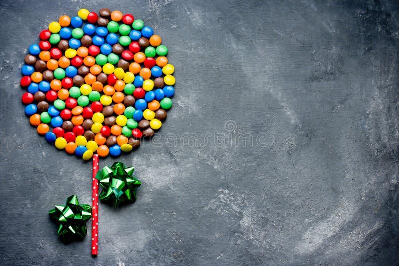 Confetti variopinti della caramella, ossequi del dolce fotografie stock libere da diritti