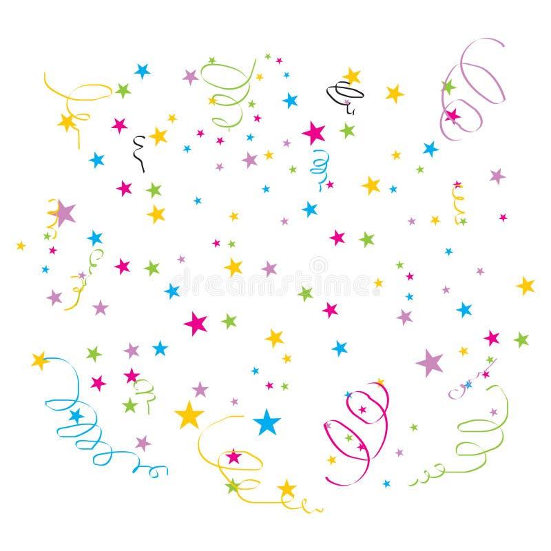 confetti wektor royalty ilustracja