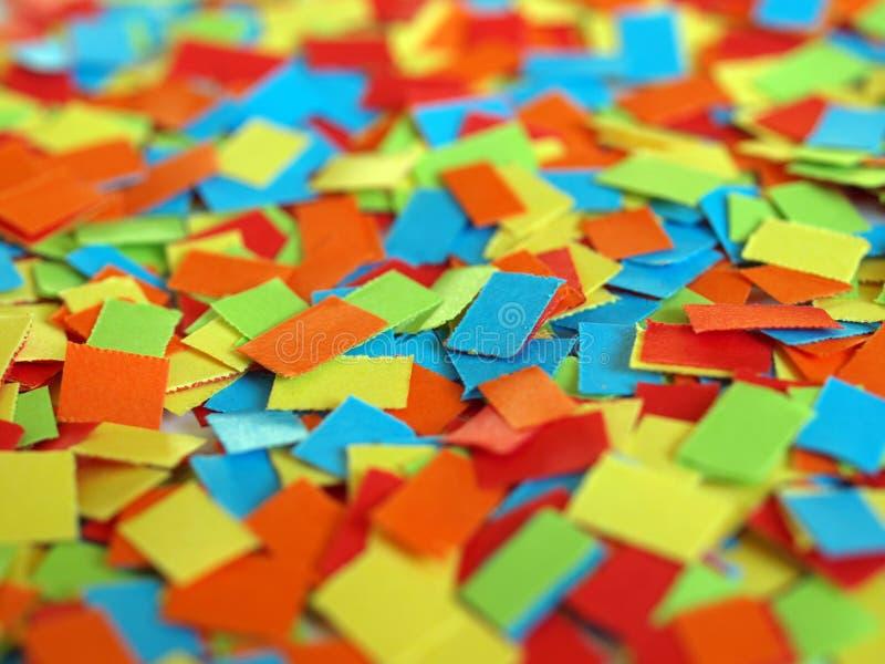 Confettien stock afbeeldingen