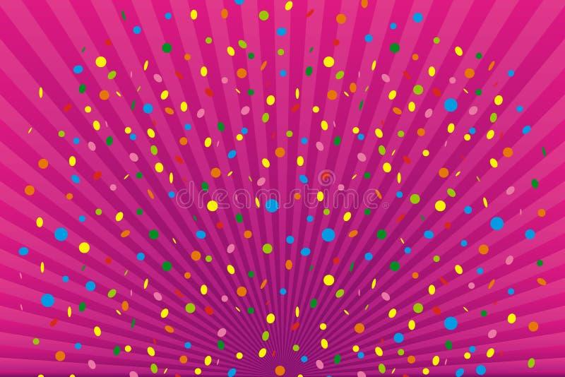 Confettien royalty-vrije illustratie