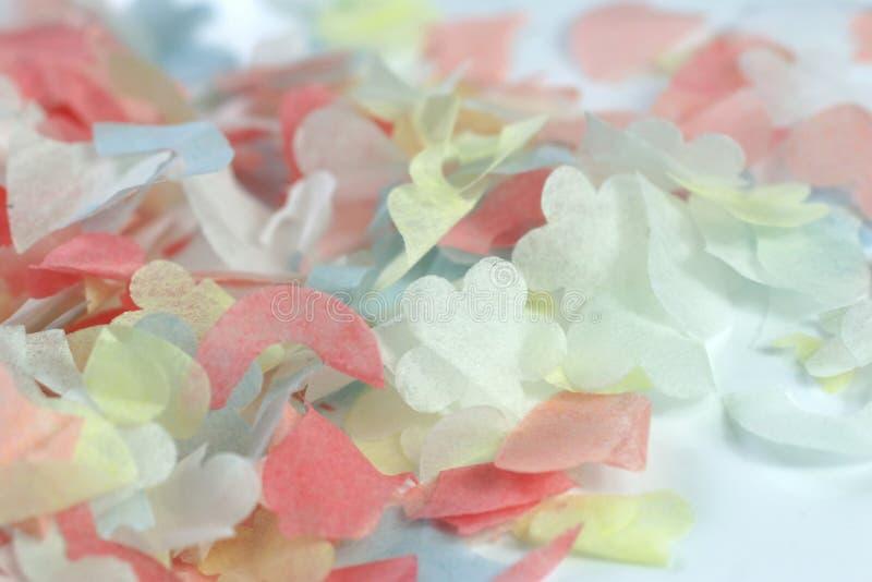 Confettien royalty-vrije stock foto's