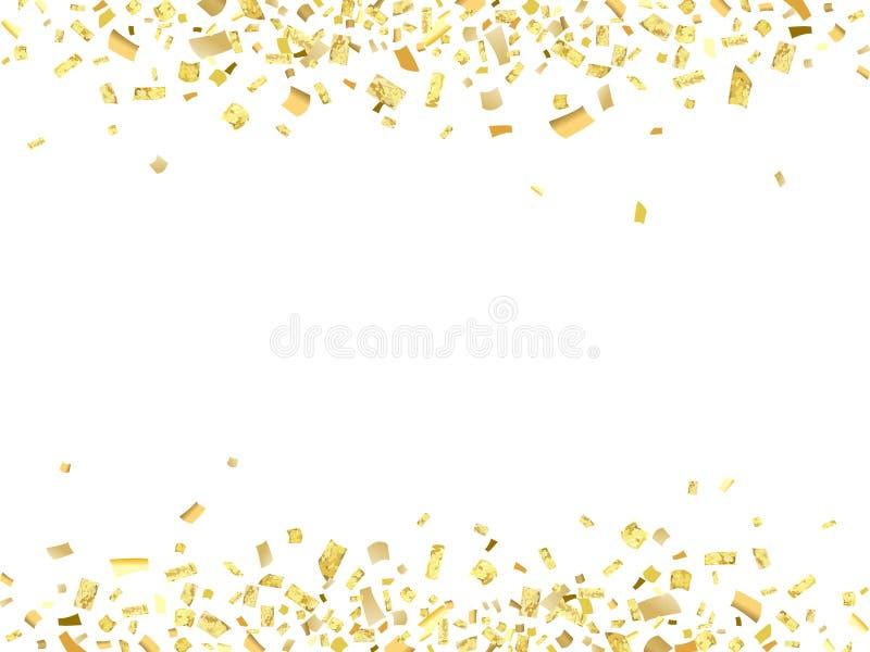 Confettien gouden abs royalty-vrije illustratie