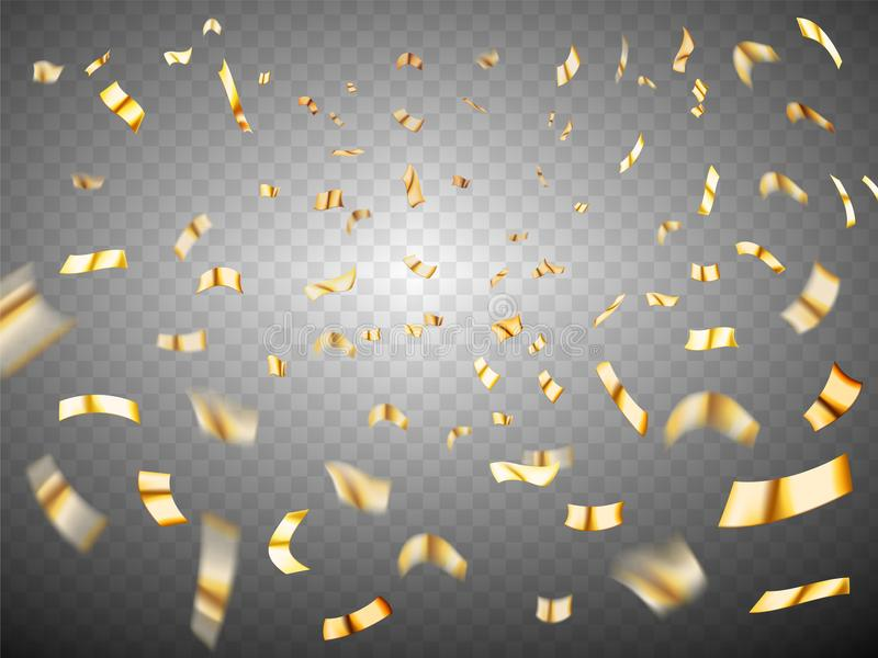 Confettienexplosie op transparante achtergrond vector illustratie