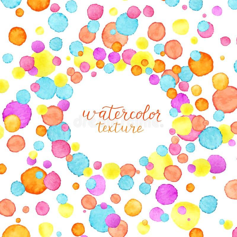 Confettienkader De achtergrond van waterverfconfettien Champagne met vliegende ballons en geïsoleerde santahoed Vector illustrati stock illustratie