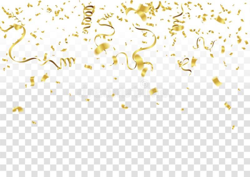 Confettis abstraits d'or de célébration de fond Fond de vecteur illustration de vecteur